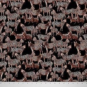 amazon com soimoi 65 gsm sewing georgette fabric zebra print 44