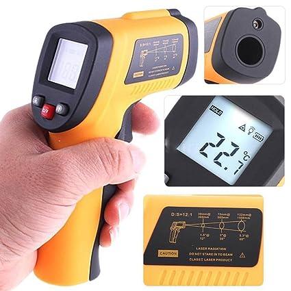 Computadora de mano sin contacto IR láser termómetro infrarrojo pistola de temperatura digital UK