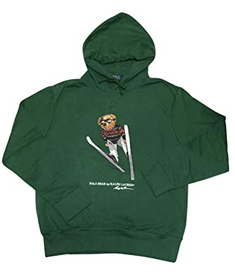 dc62ff02 Polo Ralph Lauren Men's Polo Ski Bear Hoodie Green at Amazon Men's ...