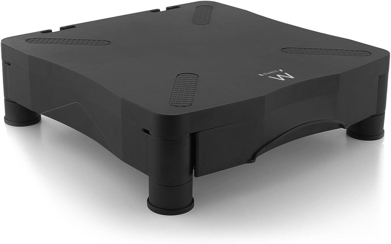 Ewent EW1280 - Soporte para monitor con elvación regulable y cajón organizador