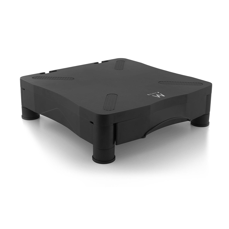 Ewent EW1280 Supporto per Monitor LCD/CRT, iMac, iMacPro, Laptop, Notebook, con Cassetto A4 Porta Oggetti Integrato, Nero altezza alza sollevare