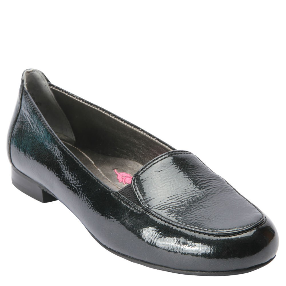 Ros Hommerson 62011 Womens Regan Shoes, Black Crinkle Patent Leather-6.5W