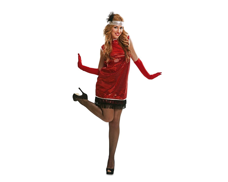 My Other Me Me-203651 Disfraz Charleston para mujer, color rojo, S ...
