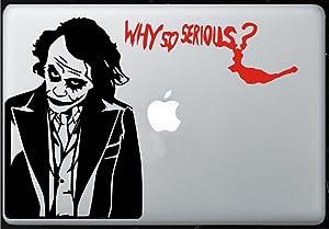 Joker Decal - Dark Knight Joker - Sticker Decal MacBook, Air, Pro All Models...