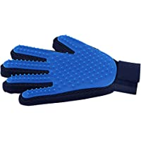 Pet Hair Remover Glove - Gentle Pet Grooming Glove Brush - Efficient Deshedding Glove - Massage Mitt with Enhanced Five Finger Design - Perfect for Dogs & Cats with Long & Short Fur - 1 Pack