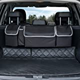 Backseat Trunk Organizer, Seat Back Storage to Keep Car Trunk Neat, Car Trunk Storage Organizer for SUV Gives You a Big Space Back Seat Trunk, Car Cargo Organizer Frees up Your Trunk Floor.