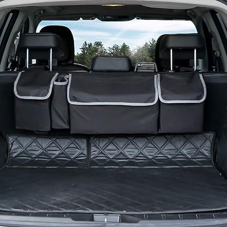 Car Trunk Storage >> Amazon Com Backseat Trunk Organizer Seat Back Storage To Keep Car