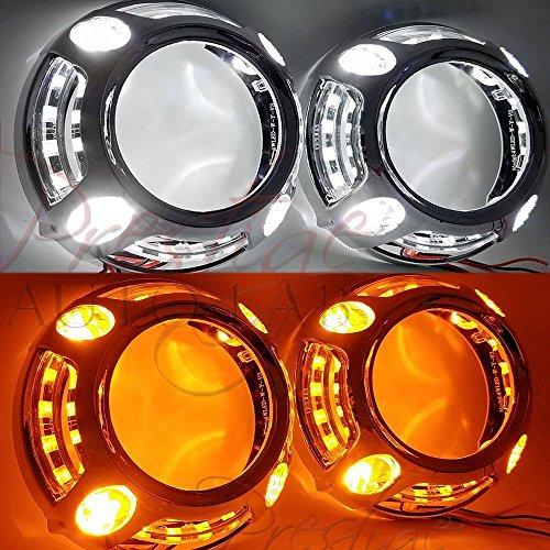 Panamera Shrouds Halo for HID LEDS projector Retrofit kit (Switchback LEDS)