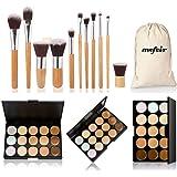 Mefeir makeup brushes professional 11 pcs brush set kit pincel maquiagem maquillaje brush set+ 15 Colors Concealer