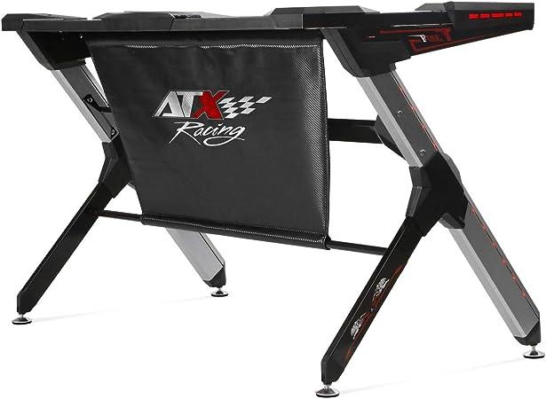 Atx Racing R1 Mesa Gaming, Metal, MDF, Negro/Aluminio, Tamaño ...