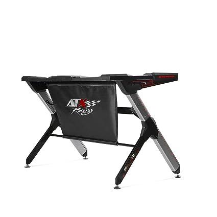 ATX Racing R1 Mesa Gaming, Metal, Negro/Aluminio, Tamaño ...
