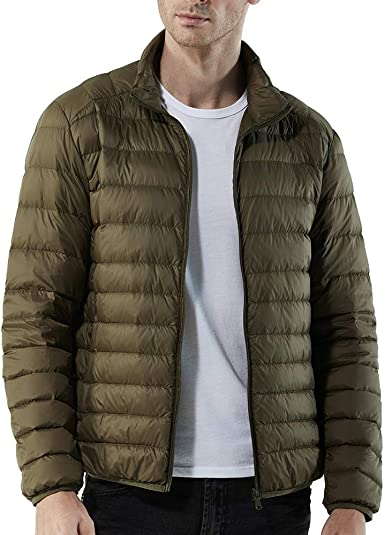 Zichhing Mens Down Jacket Hooded Outwear Leisure Jacket Thick Warm Coat