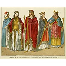 10x8 Print of Clovis I, King of the Franks and Queen Clotilda (14308638)