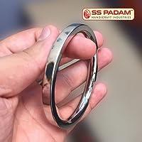 SS Padam Handicraft Industries Stainless Steel Flat Plain Kada for Men