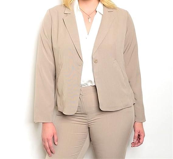 2f5667f89aa Plus Size One Button Business Blazer Jacket (1x