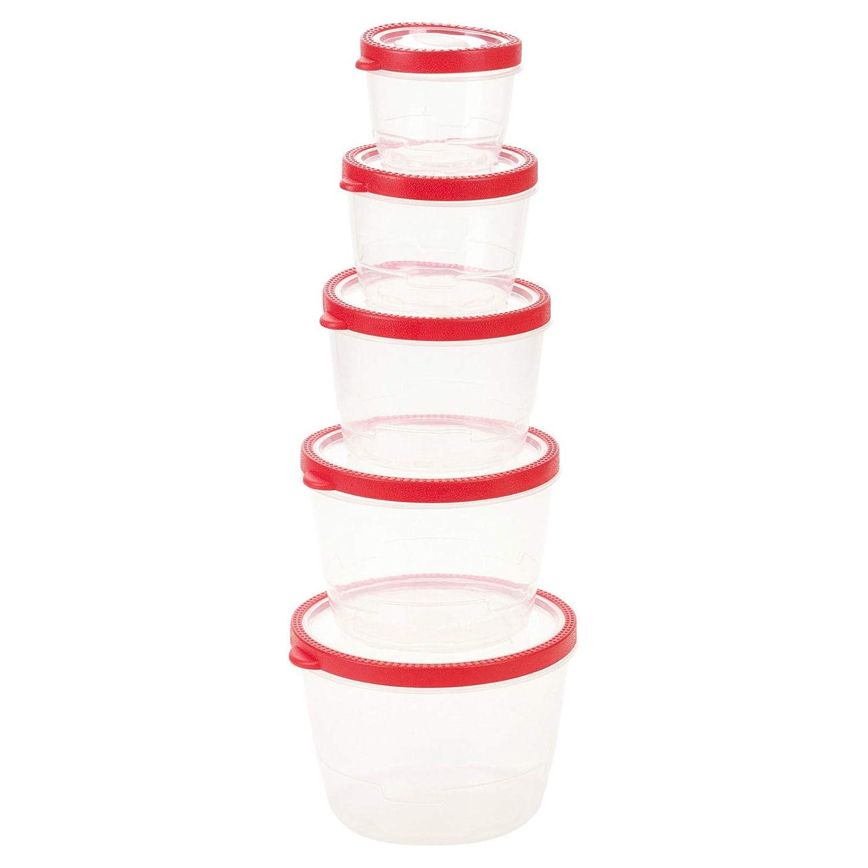 Generic - Juego de recipientes y Tapas de plástico para Alimentos ...