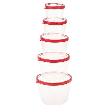 Generic - Juego de recipientes y Tapas de plástico para ...