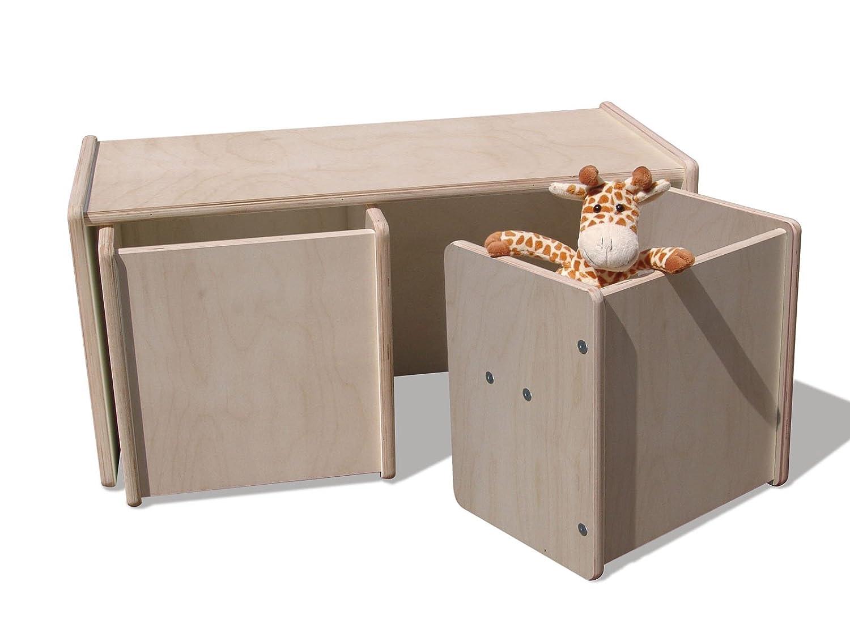 Eli bambini bambini 2 Set di Sgabelli & 1 Set Tavolo –  Natura Die Schreiner - Christoph Siegel