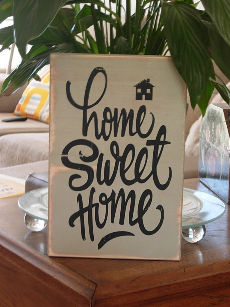 Cartel de Madera Home Sweet Home. Ideal para Decorar la ...