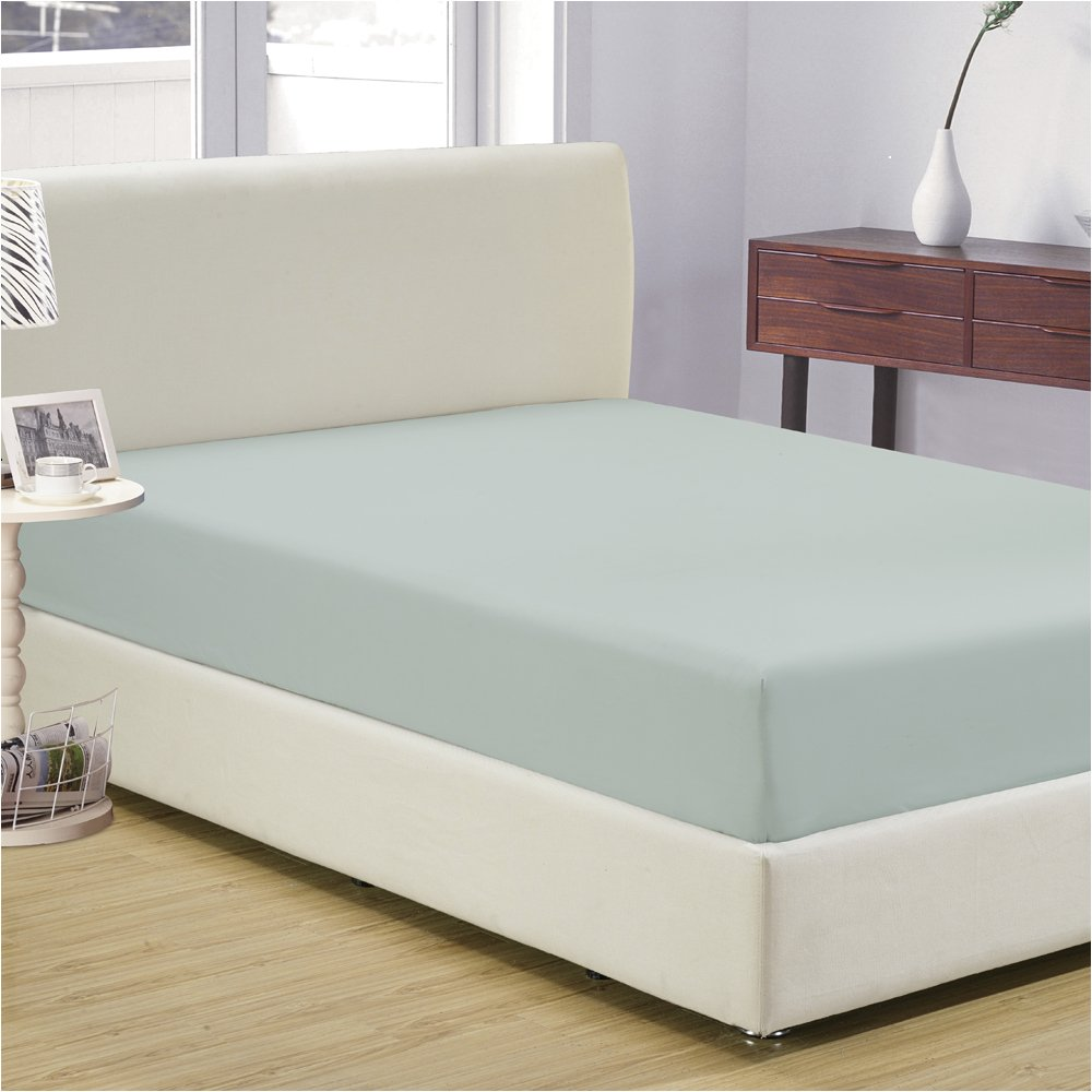 Mellanni Fitted Sheet Full Spa-Mint Brushed Microfiber 1800 Bedding - Wrinkle, Fade, Stain Resistant - Hypoallergenic - (Full, Spa Mint) by Mellanni (Image #3)