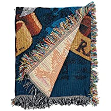 """Harry Potter, Raven Claw's Crest Woven Tapestry Throw, 48"""" x 60"""""""