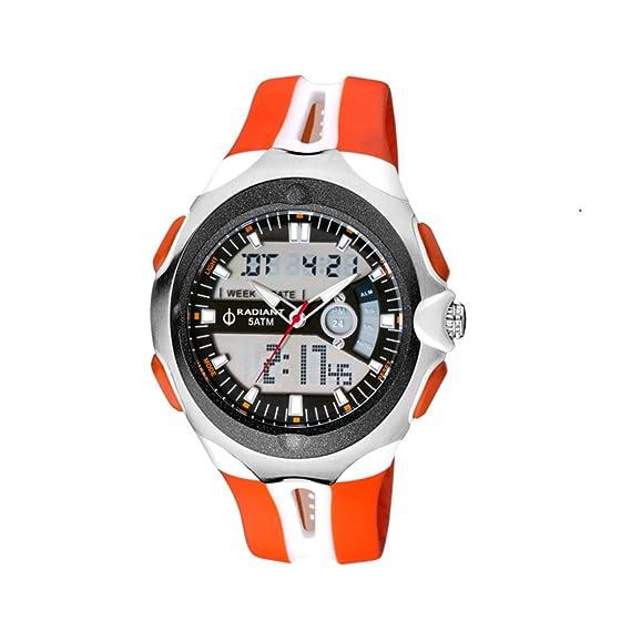 Radiant Reloj Analógico para Hombre de Cuarzo con Correa en Caucho RA245605: Amazon.es: Relojes