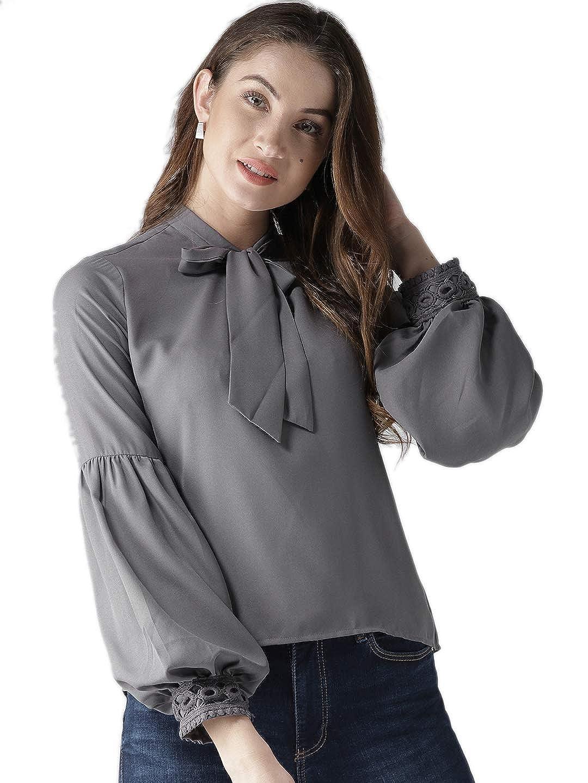Style Quotient Women Grey Solid Top