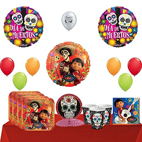 Combined Brands Disney Coco Party Supplies Pack and Balloon Decoration Kit 82 Pieces