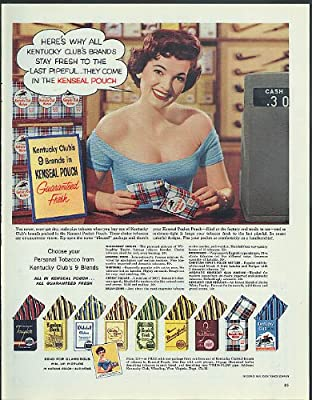 Kentucky Club Kenseal Tobacco Pouch pin-up picture offer ad 1956