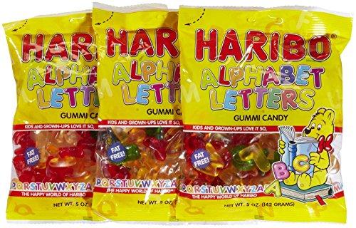 Haribo Gummi Alphabet Letters