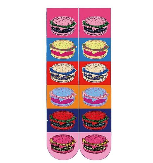 Morbuy Unisexo Adulto Calcetines, 3D Impresión Hombres y Mujer La comida Novedad Elástico Deportes Socks (A): Amazon.es: Ropa y accesorios