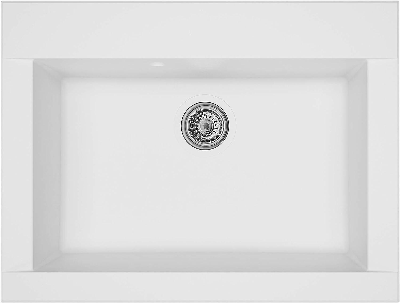 Beige 60/% Material Compuesto de minerales y Fibra de Vidrio respekta Fregadero 50 cm 40/% Resina sint/ética