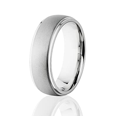Mens Cobalt Wedding Ring Cobalt Chrome Wedding Bands USA MADE