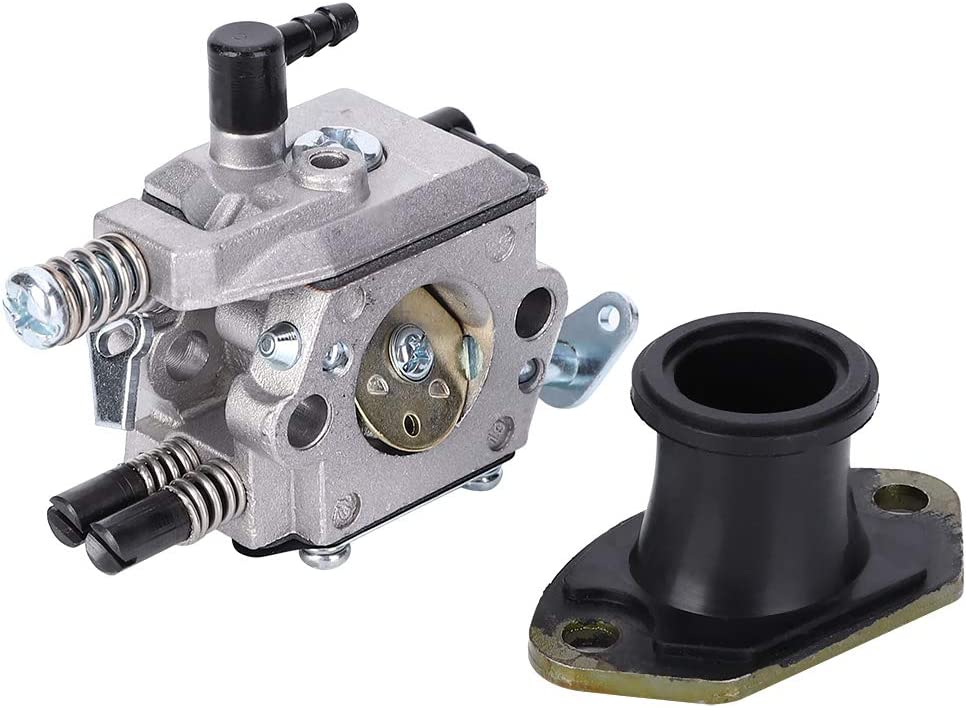Repuesto de colector de admisión de carburador para motosierra china 4500 5200 5800 52CC 58CC +, accesorios de repuesto de carburador fiables
