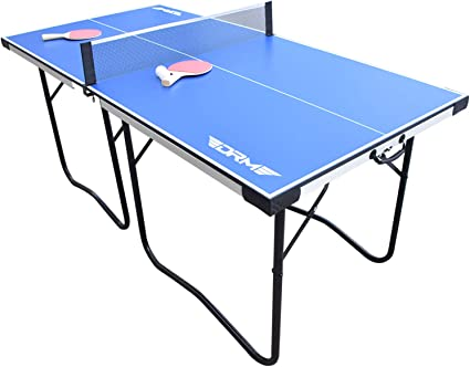 Amazon Com Drm 6ft Foldable Table Tennis Table Game Set With Built In Carrying Handles Indoor Outdoor Portable Pingpong Game Table With Net 2 Table Tennis Paddles 2 Balls Great For Small Spaces