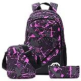 School Backpacks for Boys, Teens Girls Unisex School Bookbag Set 3 Pieces fit 15 inch Laptop Shoulder bag Travel Daypack