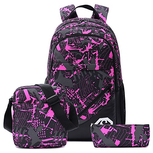 School Backpacks for Boys, Teens Girls Unisex School Bookbag Set 3 Pieces fit 15 inch Laptop Shoulder bag Travel Daypack by BTOOP