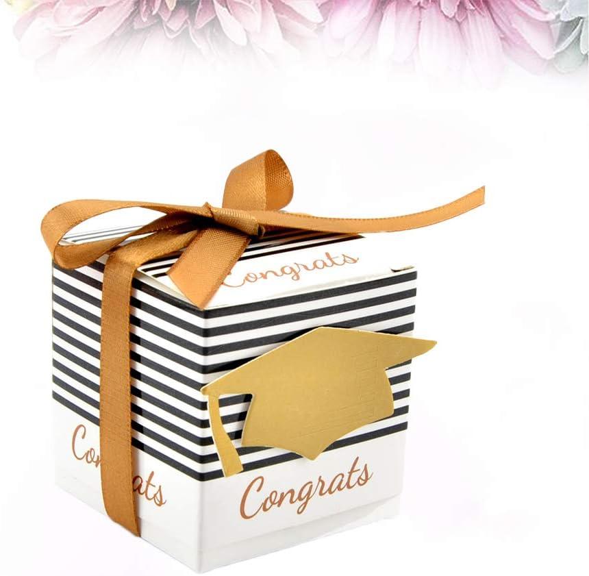 Details about  /25Pcs DIY Paper Graduation Cap Shaped Gift Box Sugar Chocolate Box for GraduT3A6