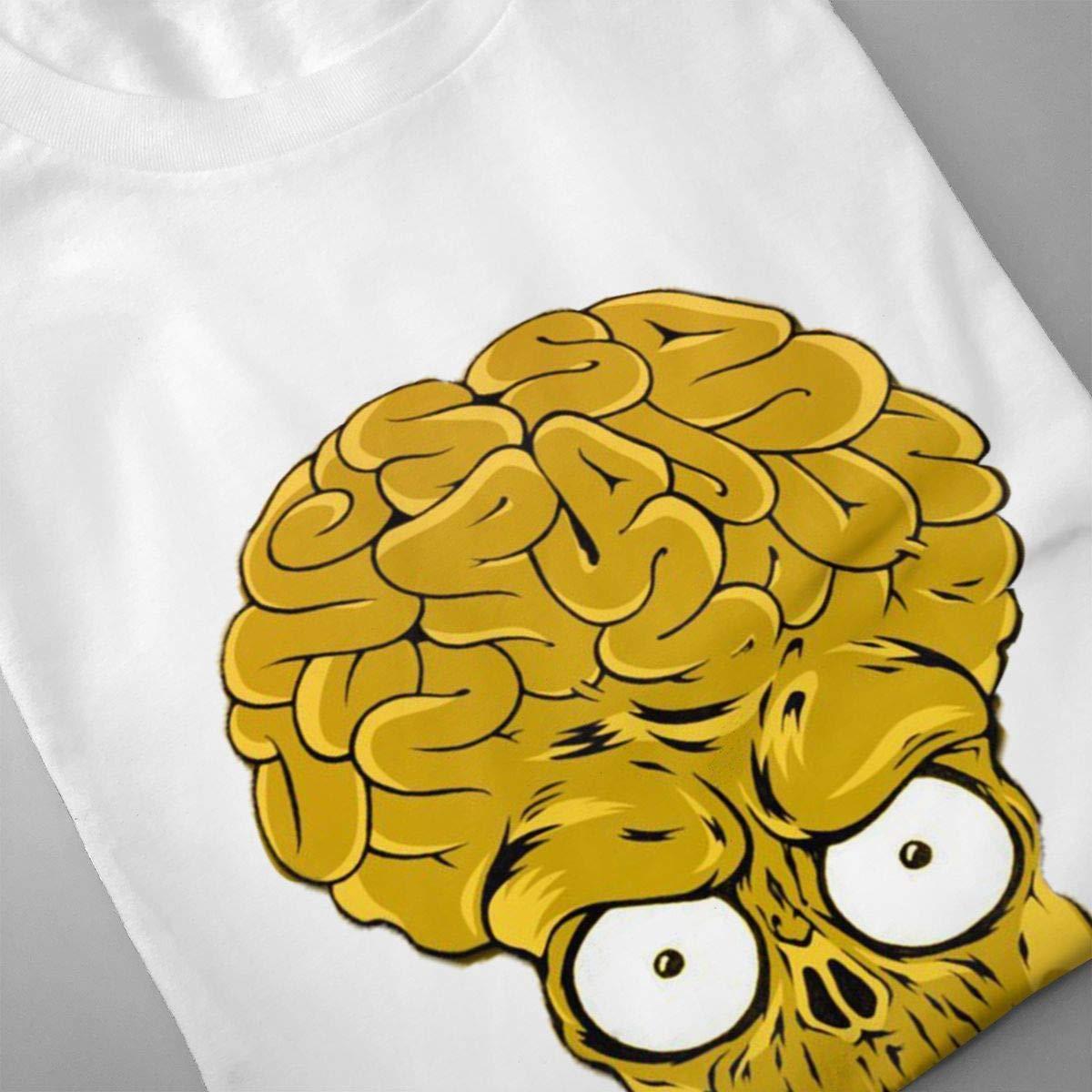 Smooffly Mens Mars Alien Colorful Head Tribal Comfortable Crew-Neck Coton Short Sleeve T Shirt