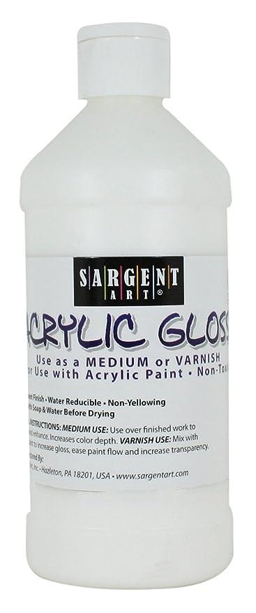 amazon com sargent art 22 8808 16 ounce acrylic gloss and varnish
