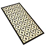 Bumble Bee Kitchen Decor Bumble Bee Printed Lattice Skid-Resistant Accent Rug