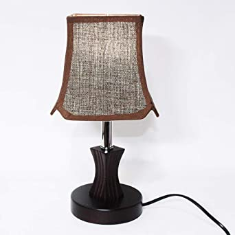 Lámpara De Mesa Luces De Escritorio De Madera De Estilo Rústico ...