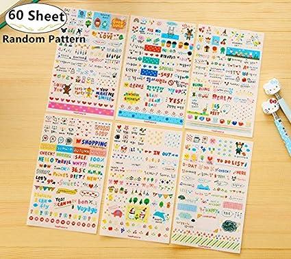 Amazon 60 Sheet Planner Stickers Value Pack Carnatory Bullet