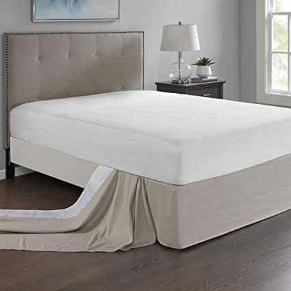 Madison Park Simple Fit Bedskirt, Khaki