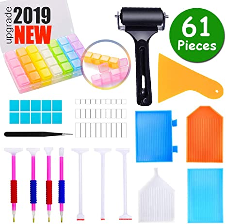SIBOTER 61 Pieces Diamond Painting Tools Accessories Kits with Diamond Painting