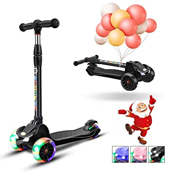 Amazon.com: XJD patinete para niños de 3 ruedas, patinete ...