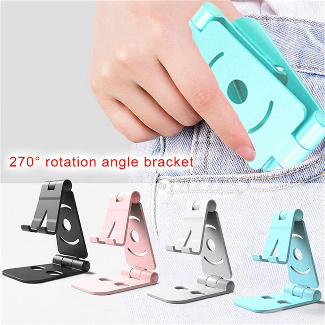 Foldable Swivel Phone Stand Foviza Desk Holder Cradle for Small Big Smartphones Blue
