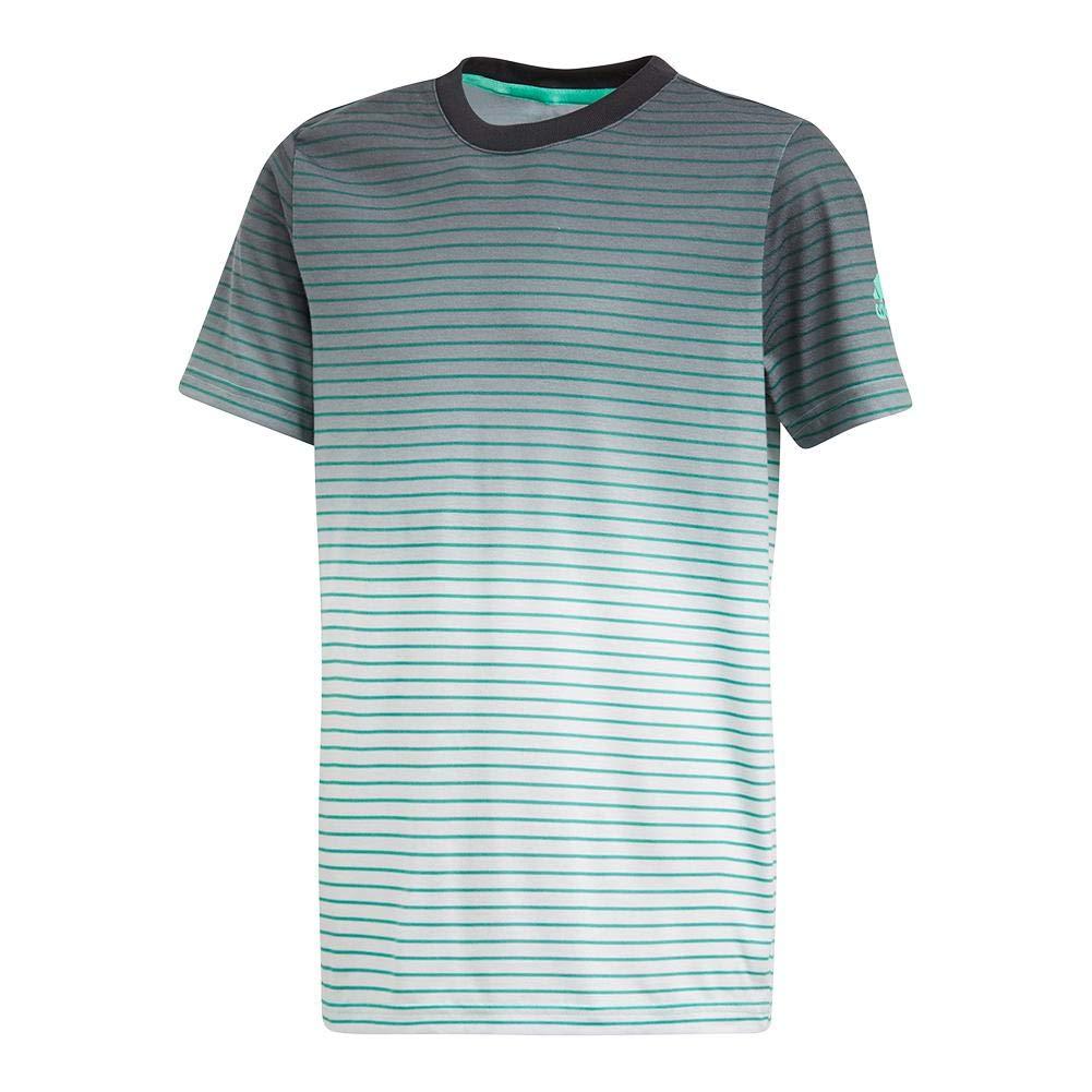 adidas Boys Tennis Melbourne Tee, Hi-Res Green, X-Small