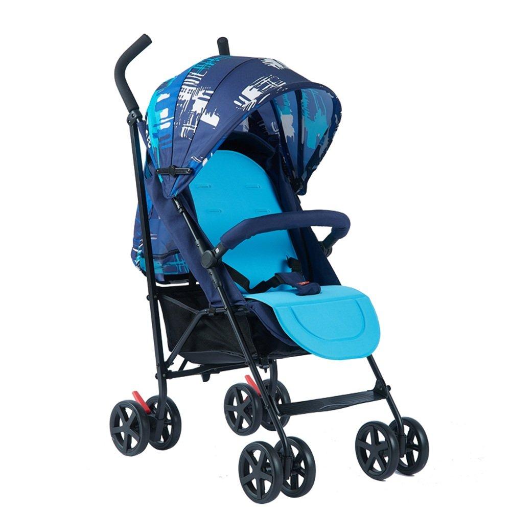 HAIZHEN マウンテンバイク ベビートベビーカー軽量折りたたみシットバック子供用ベビーカー 新生児 B07CCK87Y9 Blue 1 Blue 1