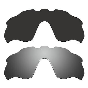 aCompatible 2 Par ventilado lentes polarizadas de recambio para Oakley Radar ritmo gafas de sol oo9333